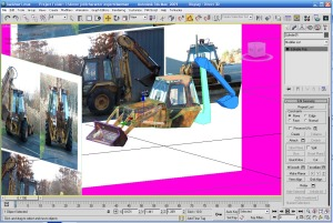 3d backhoe in Max