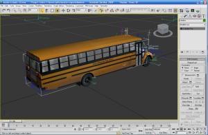 SchoolBus 3/4 view