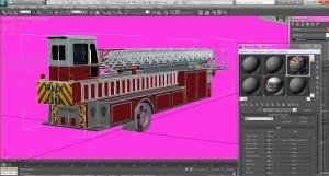 Tiller Fire Truck Rear