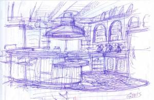 original scketch kitchen