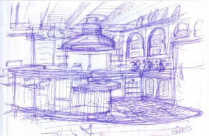 original scketch kitchen